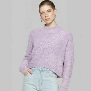 NWT Women's Lavender Crop Sweater by Wild Fable